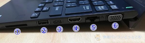 VAIO SX12キーボード右側面レビュー